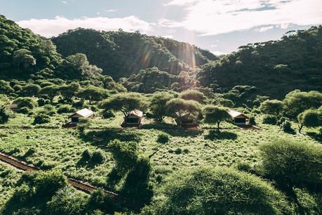 Lake Manyara Tortilis Camp Aerial View