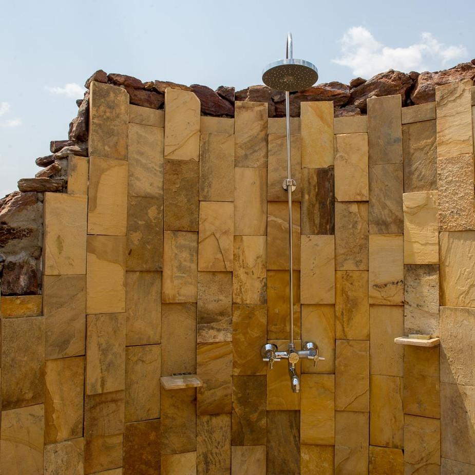 Kubu Kubu Tented Lodge Outdoor Shower