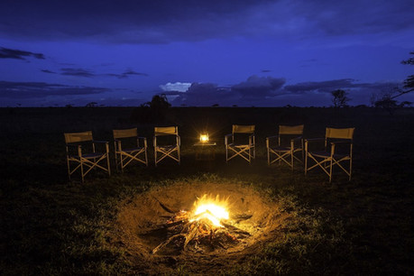 Serengeti Sametu Camp Fireplace