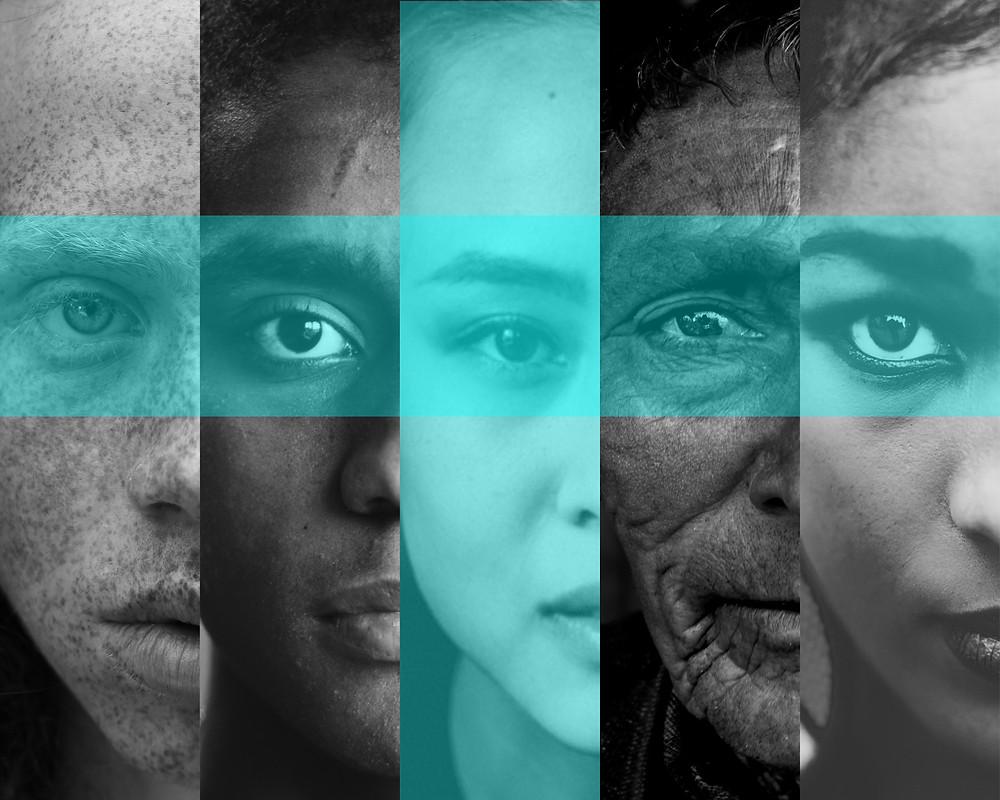 Photo of multiracial faces by Anter Blackbird, Dhaval Parmar, Emil Vilsek, Imani Clovis, Kyle Loftus on Unsplash