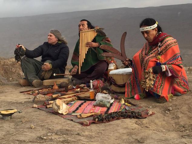 rituál na planině Nazca