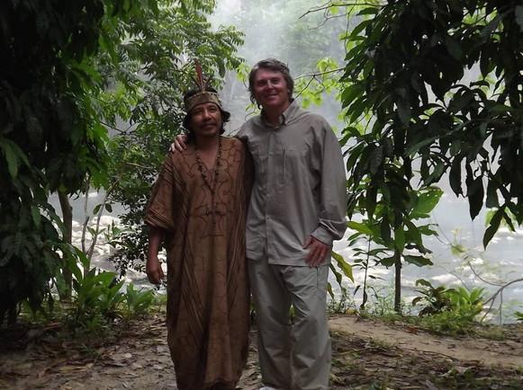 Petr se šamanem z kmene Ashaninka