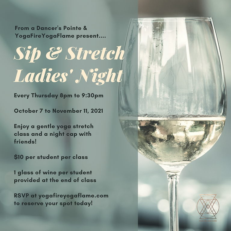 Sip & Stretch Ladies Night