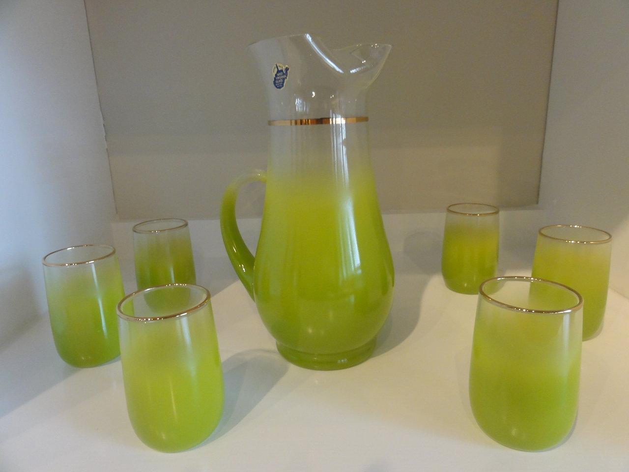 West Virginia Glass Vintage Set