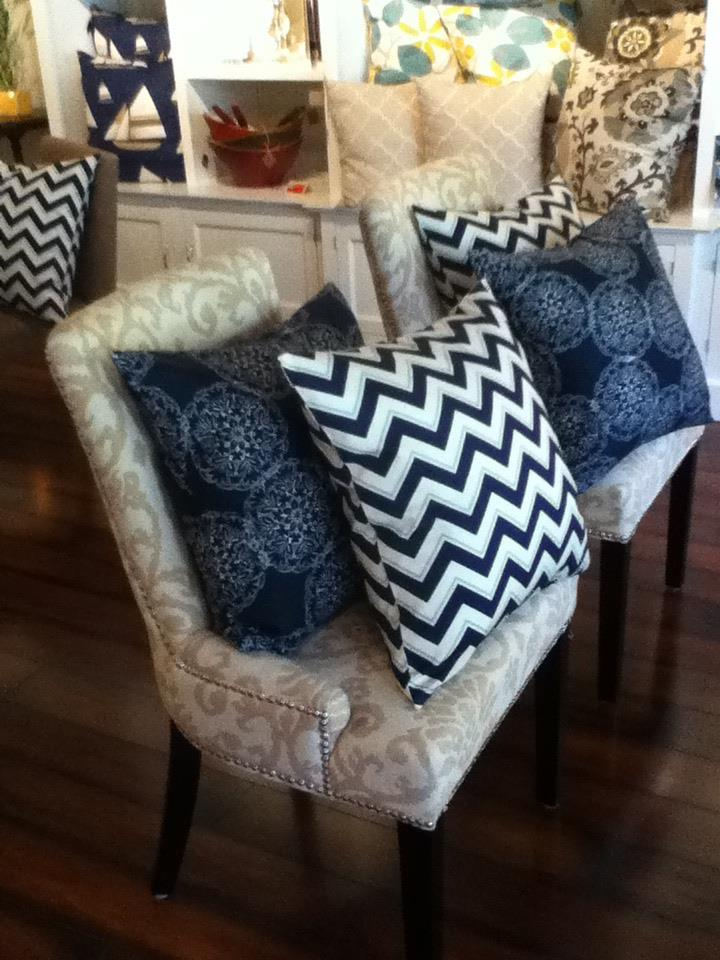 Custom Chevron Stripe Pillows