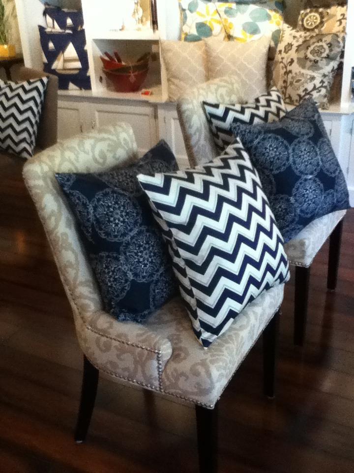 Custom Chevron Stripe Pillows