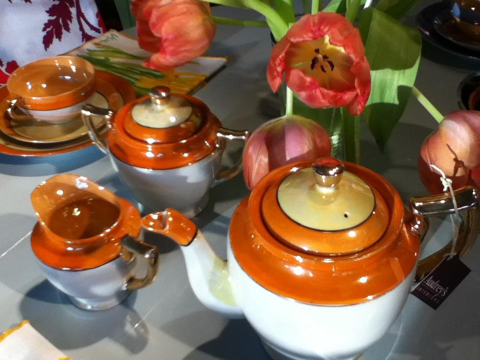 Vintage Hand Painted Tea Set