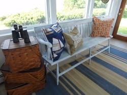 Staged Sunroom/Audrey's Interiors