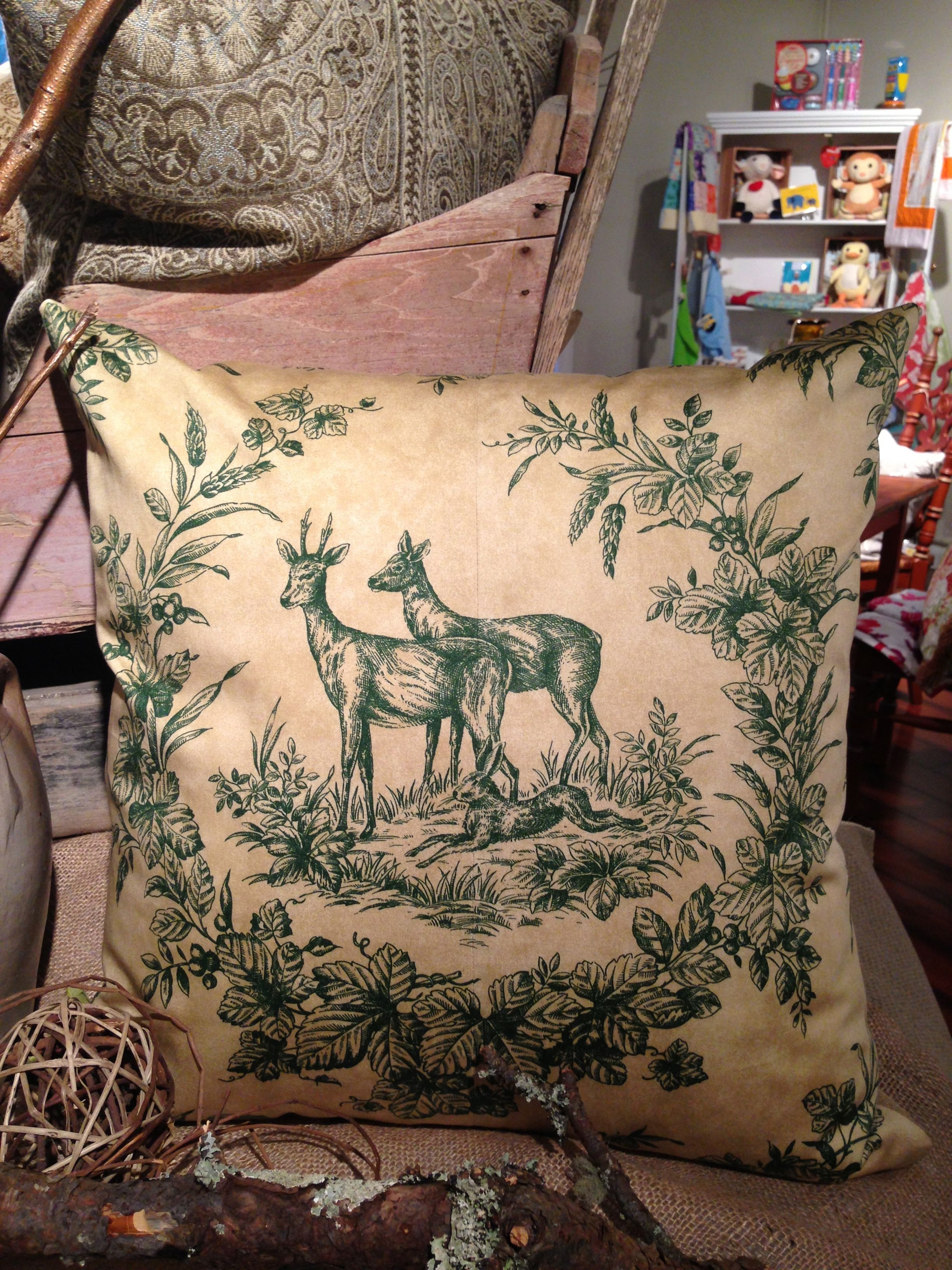 Custom Deer Pillow
