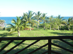 The upstair balcony view