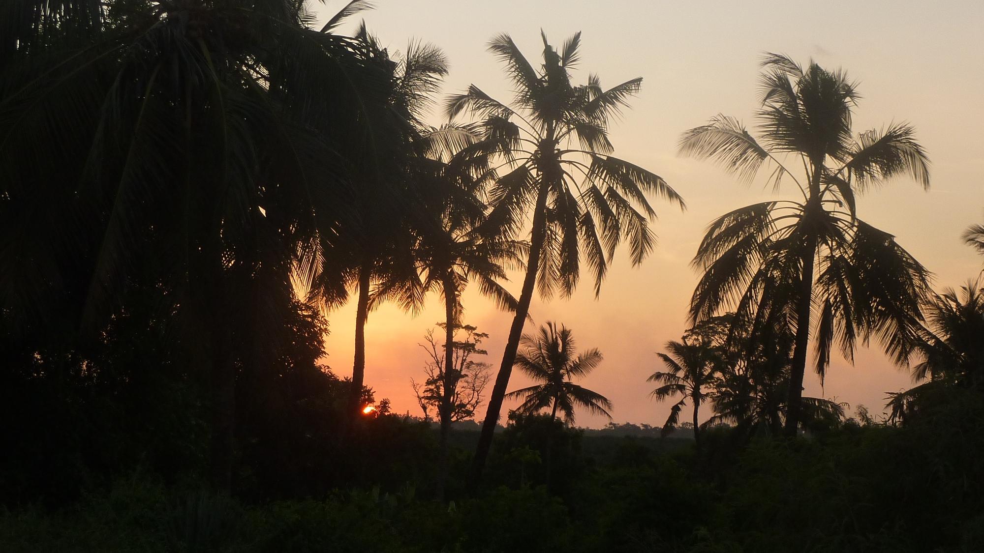 Sunset around choba bay