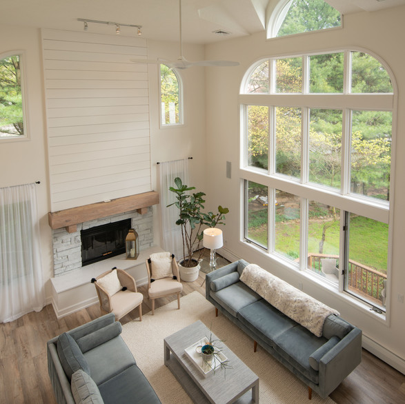 Dramatic Living/Dining Area