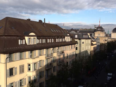 Above the roofs of Zurich