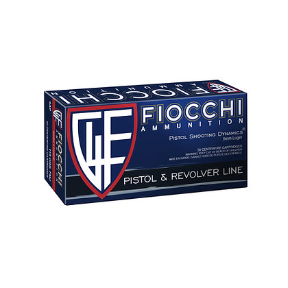 FIOCCHI 9MM 124GR FMJ-1000 Rounds