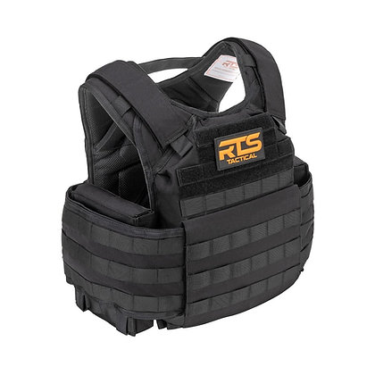RTS TACTICAL BODY ARMOR LEVEL IV CERAMIC ACTIVE SHOOTER KIT-Black