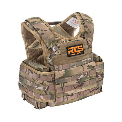 RTS TACTICAL BODY ARMOR LEVEL IV CERAMIC ACTIVE SHOOTER KIT- Multi Cam