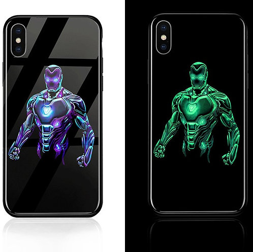 Iron Man Iphone 6 - 11 Luminous Tempered Glass Cases