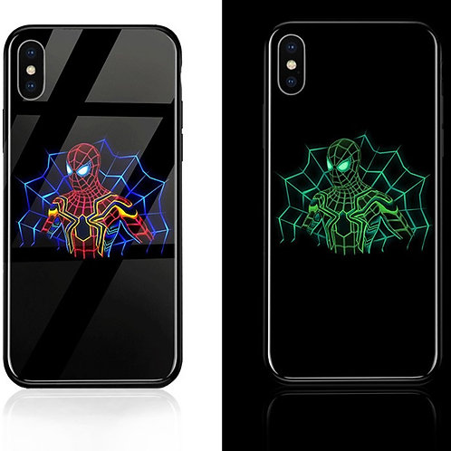Spider Man Iphone 6 - 11 Luminous Tempered Glass Cases