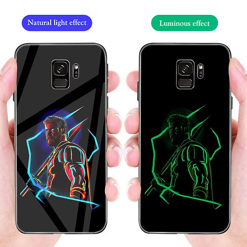 Thor Ragnarok Samsung S8 - S10 Luminous Tempered Glass Cases