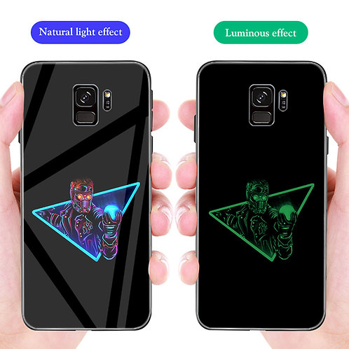 Star Lord Guardians of Galaxy Samsung S8 - S10 Luminous Tempered Glass