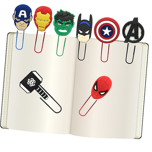 Marvel and Dc fan Bookmark
