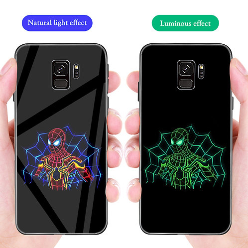Spider Man Samsung S8 - S10 Luminous Tempered Glass Cover