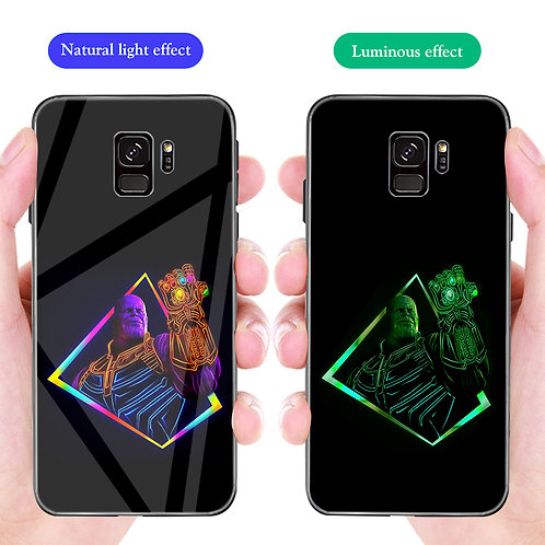 Thanos and Gauntlet Samsung S8 - S10 Luminous Tempered Glass Cases
