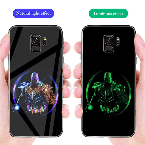 Thanos Infinity War Samsung S8 - S10 Luminous Tempered Glass Cases