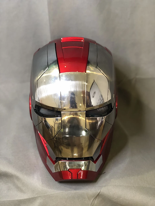 Iron Man MK5 polished face plate Voice control helmet