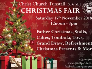 Christ Church Christmas Fair  17th November 12-3