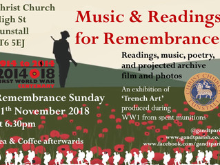 Music, Readings and Poetry for Remembrance