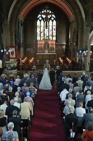 Wedding Christ Church Tunstall