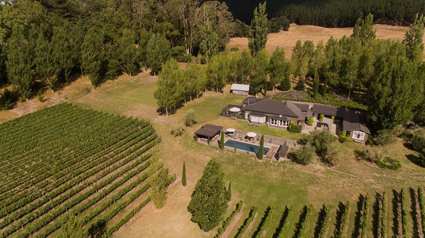 Aerial view of The River House