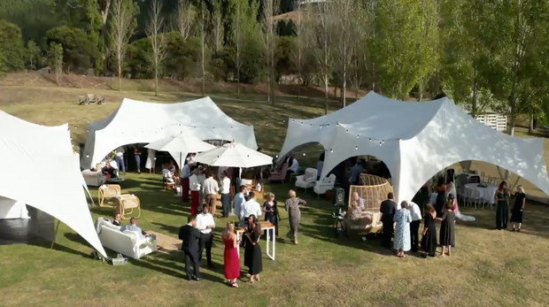 Capri Marquees wedding lawn