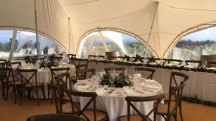 Bridal table in 8.5m x 11.5m