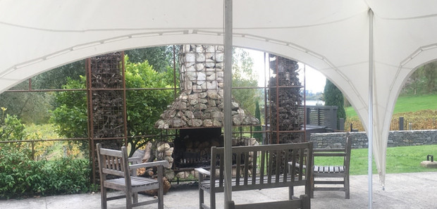 Capri marquee over large courtyard