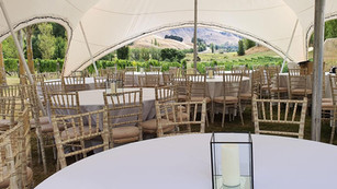 Capri marquee with a view