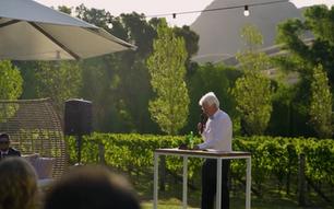 Wedding speech backdrop