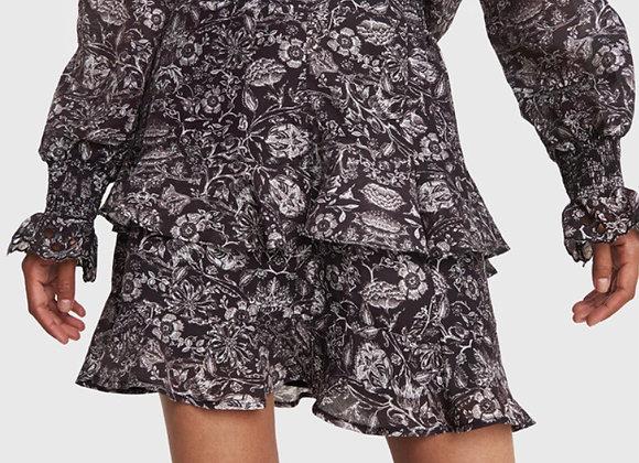 Flower skirt linen