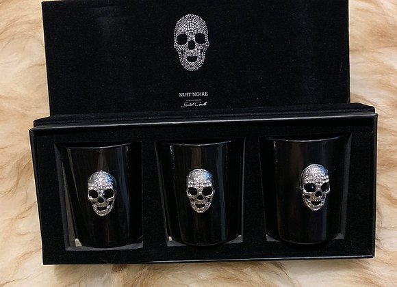 Set 3 skull mini candle