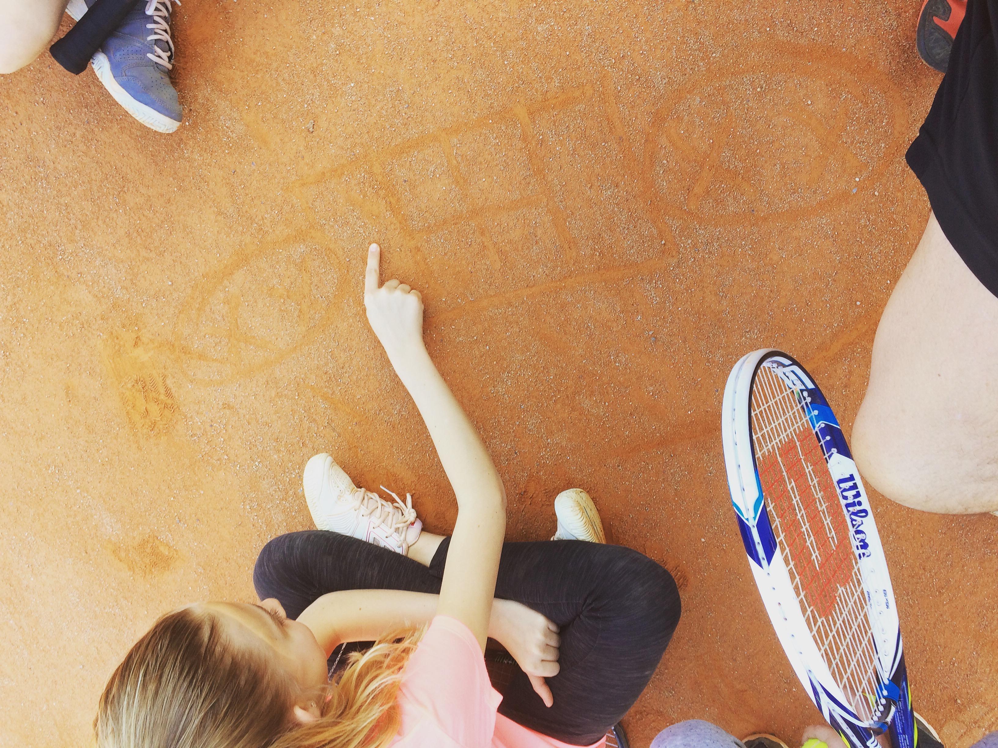 dessin tennis
