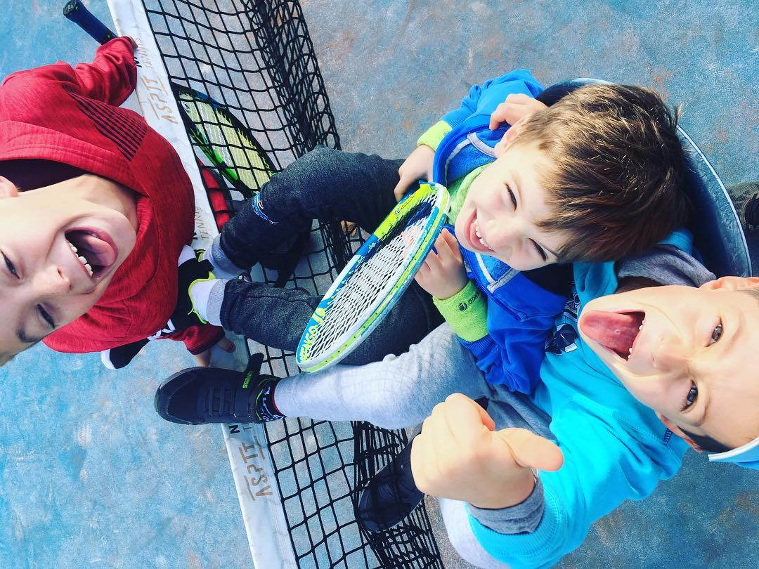 Bonheur au Mini tennis