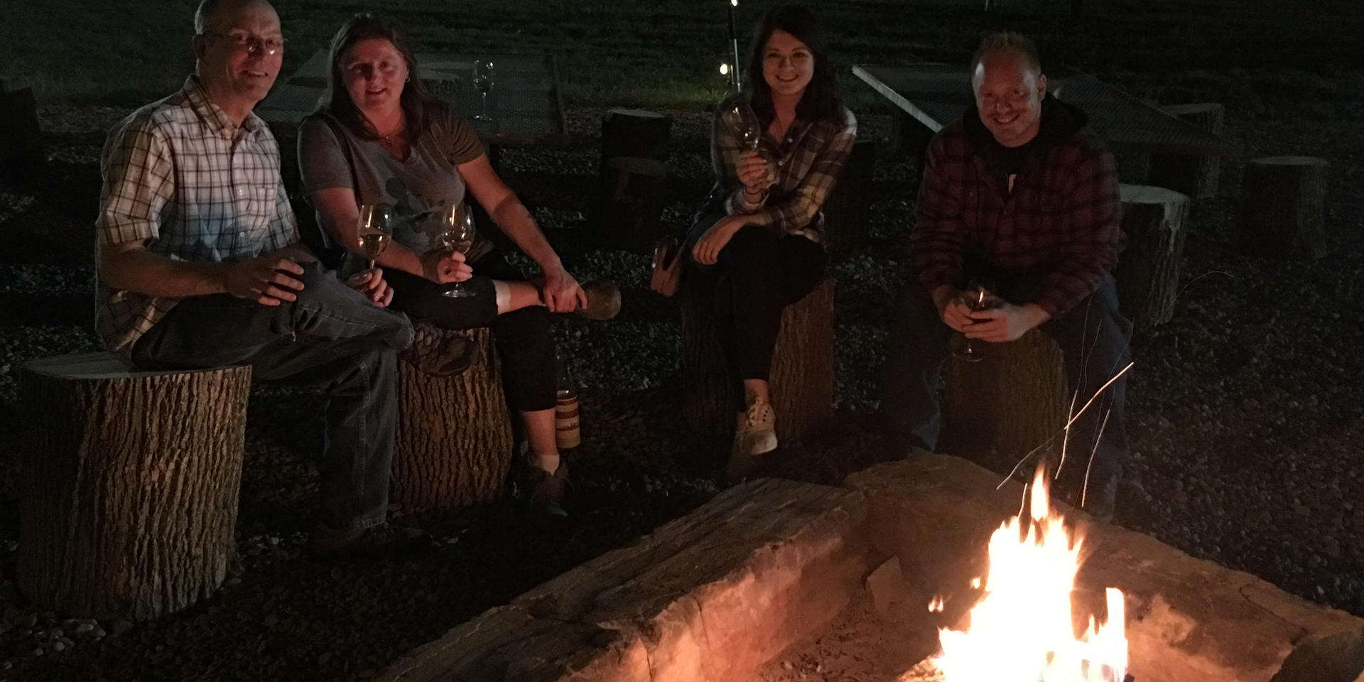 Hang out around the fire with friends!