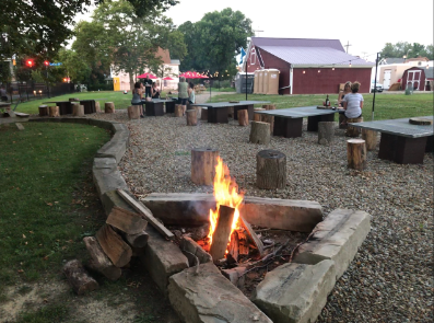 Ask us to start a fire for you at one of our many firepits located around the winery
