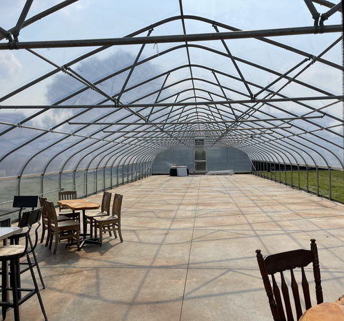 Freshly Covered Greenhouse July 2021