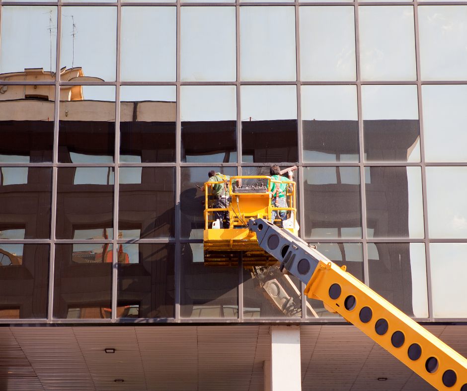 Window Cleaning with Lift