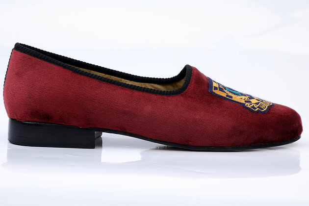 HAVARD BRICK VELVET PUMPS