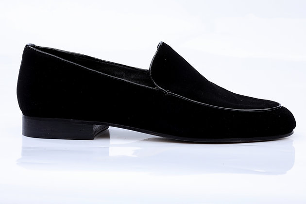 LINE TECHNICAL DARK VELVET LOAFERS