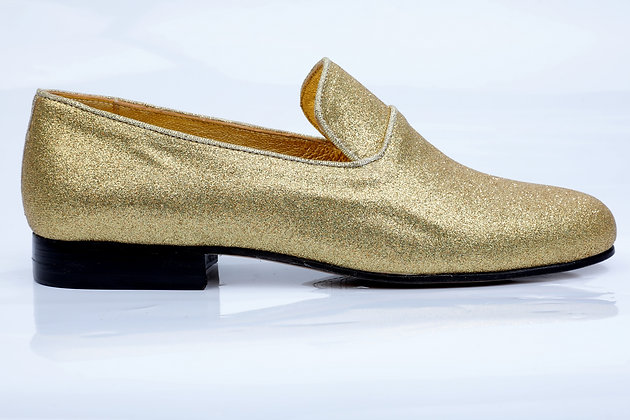 SATURDAY NIGHT GOLD LOAFERS