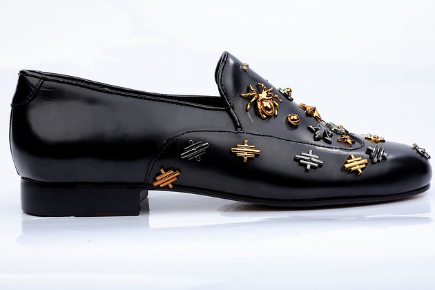 CONSTELLATION STUDDED LOAFERS
